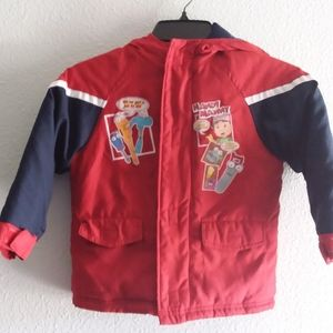 Disney Handy manny boys jacket with hoodie -3T